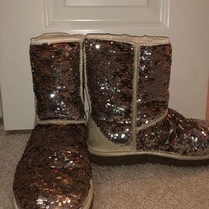 brown glitter uggs